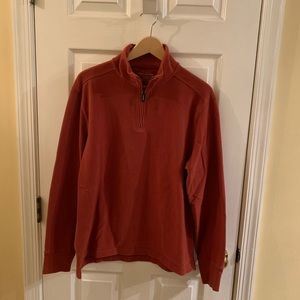 J Crew Rust Quarter Zip Sweater